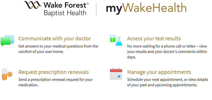 mywakehealth Features