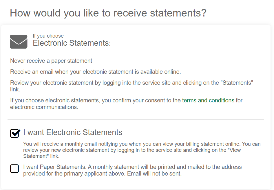 my bp credit card application terms