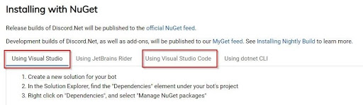 installing with Nuget